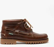 Sebago RANGER MID WAXY Mens Autumn Winter Outdoor Leather Ankle Boots Brown Gum