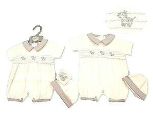 Premature Baby Romper Suit Set Zebra Clothes Gift 3-5-8lb White Grey Unisex