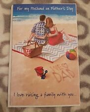 Happy Father's Day Card for Husband Carlton Cards Beach w/ Envelope