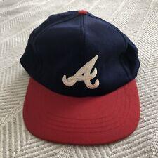 Boy's Size Atlanta Braves Classic Ball Cap Hat Snapback MLB Vintage EUC