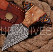 UD KNIVES CUSTOM HANDMADE DAMASCUS STEEL HUNTING FULL TANG KNIFE 8800