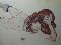 Egon Schiele (1890 - 1918) - liegender weiblicher Akt, 1917