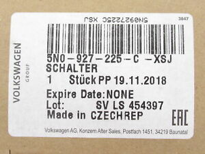 Genuine OEM VW 5N0-927-225-C-XSJ Parking Brake Release Switch 2012-2017 Tiguan