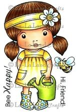 WATERCAN MARCI-La-La Land Crafts Cling Rubber Stamp-Stamping Craft-Girl-RETIRED