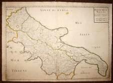 ITALIE LE ROYAUME DE NAPLES carte geographique ancienne Sanson d'Abbeville