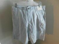 Calvin Klein Size 34 Gray Striped Twill Men's Shorts NWT