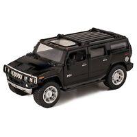 "Kinsmart 2008 Hummer H2 SUV 1:40 scale 5"" diecast model car Brand New Black"