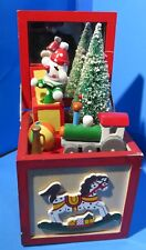 1984 Enesco Action Music Box Plays My Favorite Things Toy Chest