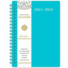 2021 2022 Daily Monthly Planner Blue Thick Paper Calendar Organizer Day Designer