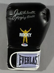 Jake LaMotta Signed ROCKY Balboa Boxing Glove PSA/DNA COA L Auto'd Raging Bull