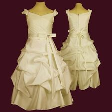 Traumhaftes Mädchen Kleid Blumenmädchen Hochzeit Partykleid Top Markenprodukt