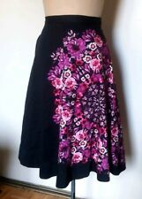 Vanessa Virginia crystallized fuchsia Mandala A line black floral skirt 2