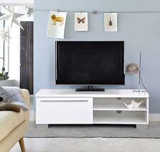 Modern TV Unit TV Cabinet TV Console Stand White Matt White High Gloss  Chipboard Part 98