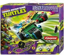 Carrera GO!!! Ninja Turtles X-Loop Slot Car Set 62324 NEW NIB 1/43