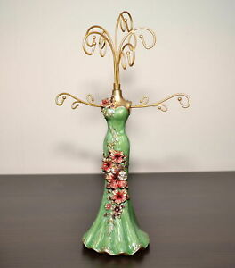 Beautiful Mannequin Jewellery Stand / Tree Display Necklace Holder Lady green