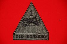 ORIGINAL US MADE VIETNAM SUBDUED 1ST ARMOURED DIVISION OLD IRONSIDES CLOTH PATCH