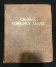 """Harco Coinmaster  """"GENERAL CURRENCY ALBUM"""" 5 Pages w/ 10 spaces: Lightly Used!"""