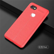 For Google Pixel 2 /XL Shockproof Soft Leather Full Cover Case + Tempered Glass