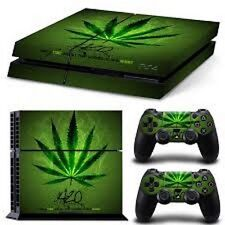 Marijuana 420 SKIN DECAL STICKER 4 PS4 PlayStation 4 Game Console Controller