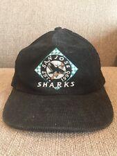Vintage San Jose Sharks Corduroy Hat 1990 90's Retro NHL Hockey