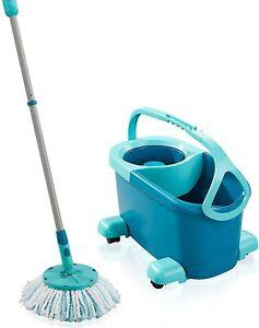 Leifheit Set Clean Twist Disc Mop Ergo Mobile Lave Sol Seau et Balai Essoreur Fr