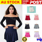 Women's Retro High Waist Pleated Slim Skirt Short Mini Skirts Tennis Skirt Dress