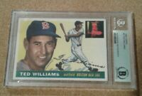 1955 Topps #2 TED WILLIAMS signed Beckett Auto authentic Boston Red Sox HOF