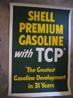 Shell Premium GAS With TCP 32x48 ORIGINAL c1953 Vintage Advertising Poster 3975