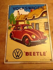 genuine  metal Beetle advert sign