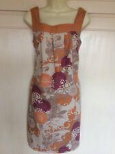 Vestido De Verano siguiente Algodón Floral Tamaño 12