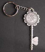 1949 70th birthday lucky Sixpence key keyring wedding anniversary present + box