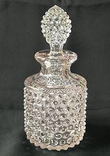 EAPG Flint Glass Pointed Hobnail Perfume Bottle Glass Antique Amethyst Hue