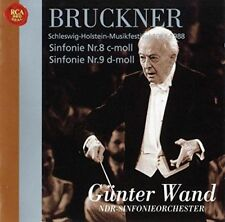 GUNTER WAND-BRUCKNER: SYMPHONIES NO. 8 & NO. 9-JAPAN 2 CD Ltd/Ed C94