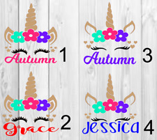 Unicorn personalized name Decal Single Color 3x3 B