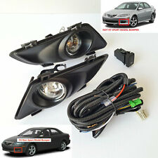 For 2003-2005 Mazda 6 Clear Fog Driving Light with Switch Bulb Wiring Left Right