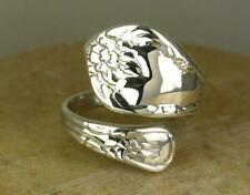 LOVELY .925 STERLING SILVER ADJUSTABLE SPOON STYLE RING   style# r0645