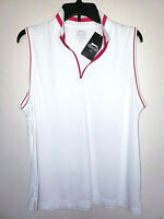 Womens Slazenger Sleeveless Hydro-Dri 1/4 Zip Polo Golf Shirt New NWT Size 2XL