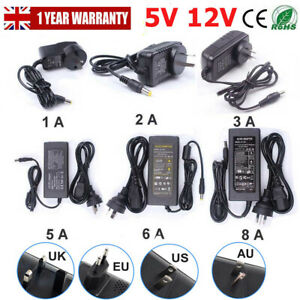 AC /DC 5V/12V/24V 1A 2A 3A  5A  8A 10A Power Supply Transformer Adapter Charger