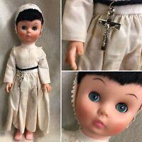Free USA Shipping Vintage Catholic Hard Plastic Nun Doll Cross Sleeper Eyes