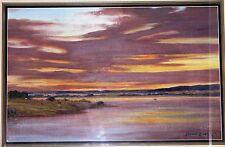 """Leonard Long Australian artist """"Shoalhaven Sunset"""""""