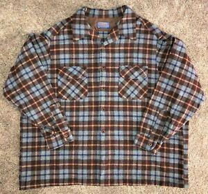 Vintage Pendleton 100% Wool Board Shirt - Loop Collar - 2 Flap Pockets - 3XL