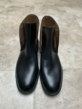 Black Size 5 All Leather Boots Lace Up
