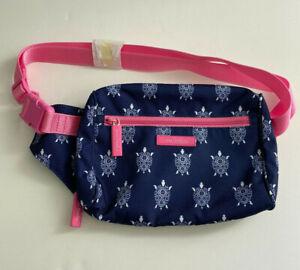 Vera Bradley Fanny Pack Waist Travel Belt Bag Blue Turtles New NWT