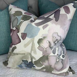"Abstract Cushion Cover 16"" John Lewis & Partners MIRREN Fabric , Purple"