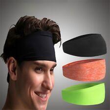 Well Hair Head Band Sweatband Headband Stretch Mens Wrap Elastic Sports Men Thin