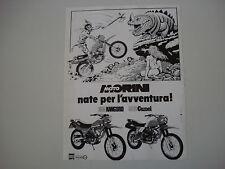 advertising Pubblicità 1983 MOTO MORINI 350 KANGURO/500 CAMEL