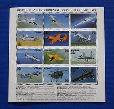 Palau (#370) 1995 Research & Experimental Jet Airtcraft MNH sheet