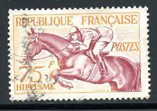 STAMP / TIMBRE FRANCE OBLITERE N° 965 sport / JEUX OLYMPIQUES HELSINKI HÏPPISME