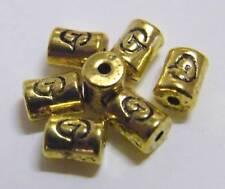 100pcs 6x4mm Metal Alloy Drum Spacer Beads - Antique Gold