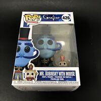 "Mr. Bobinsky With Mouse Coraline Pop Animation 4"" Vinyl Figure #426 Funko 2018"